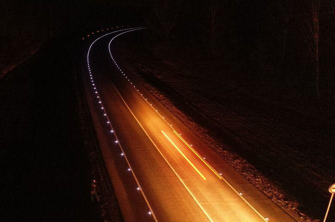 Росавтодор доложил об установке светодиодных маячков на трассах ЦФО