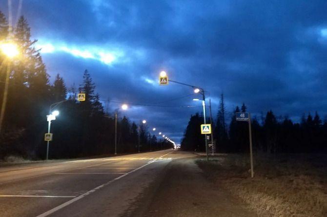 До конца месяца в Подмосковье подключат 170 километров новых линий освещения