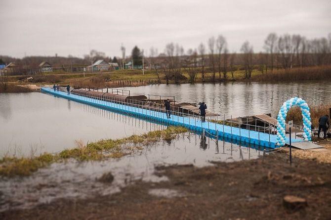 Построили, чтобы разобрать: в татарстанском селе открыли мост, который нужно разбирать на зиму