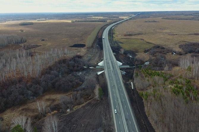 Участок трассы Екатеринбург — Тюмень в Свердловской области расширили до четырёх полос