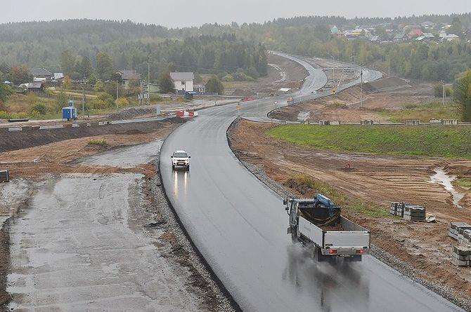 Региональную дорогу в Пермской области расширят до четырёх полос