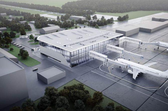 Губернатор Кемеровской области опубликовал эскизы нового терминала аэропорта