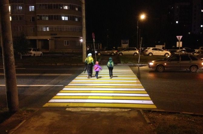 В Калуге появится проекционный пешеходный переход