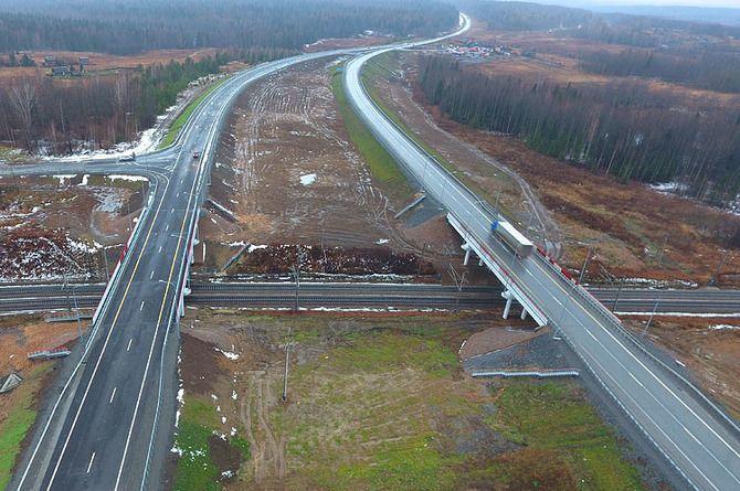 Два путепровода через Транссиб возвели на трассе Р-255 «Сибирь»