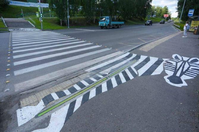 В Красноярске появился «лежачий» светофор