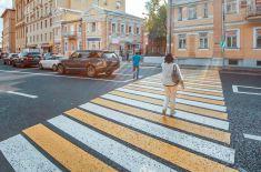 В Москве изменят разметку на диагональных пешеходных переходах