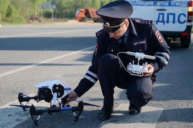 Летающие дроны патрулируют дороги Краснодарского края