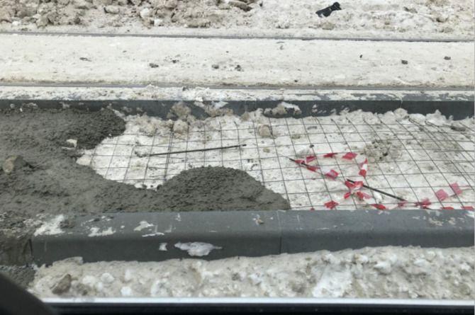 В Новосибирске прошли снежно-асфальтные работы