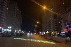 Плюс один: в Ставрополе появился проекционный пешеходный переход