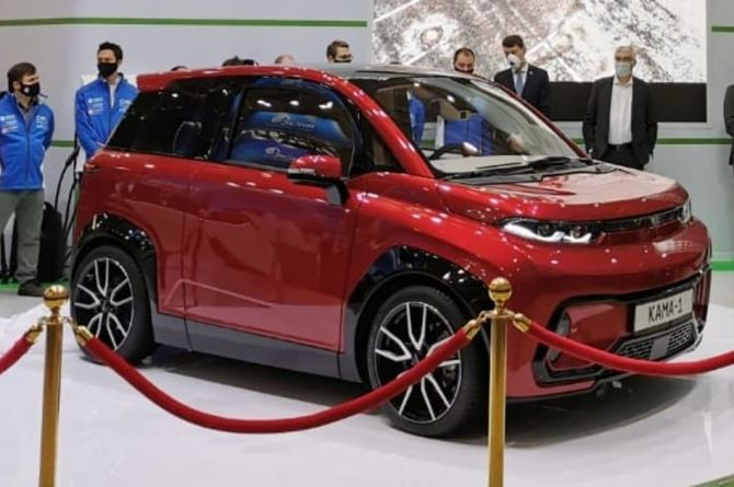 КамАЗ представил свой электромобиль «КАМА-1»