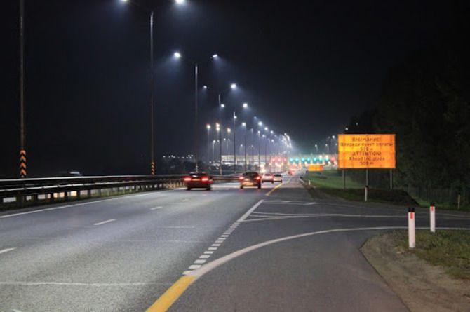 На трассах «Автодора» в ближайшие пять лет появится почти 550 км линий освещения