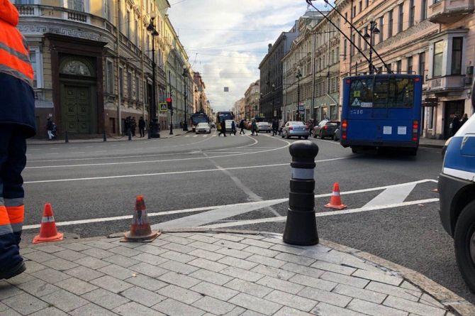 В центре Санкт-Петербурга установили французские сигнальные столбики