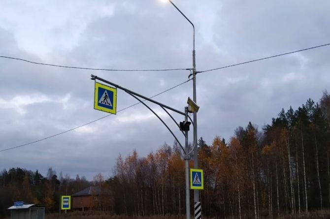 На трассе «Скандинавия» установили Г-образные опоры со светофорами Т.7