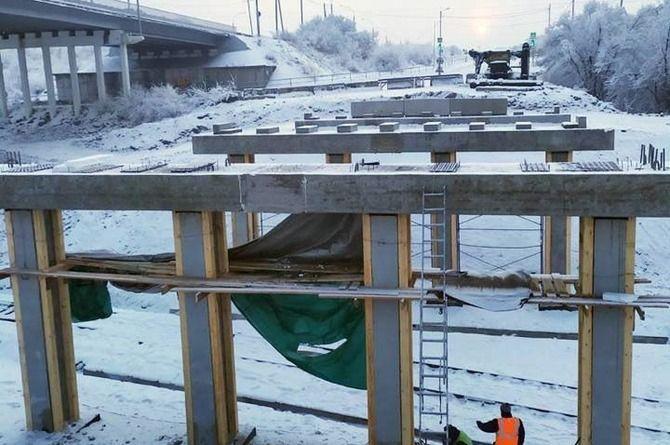 Реконструкция путепровода в столице Хакасии продолжает затягиваться