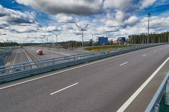 Почти завершена работа на восьмом участке трассы М-11 «Москва — Санкт-Петербург»