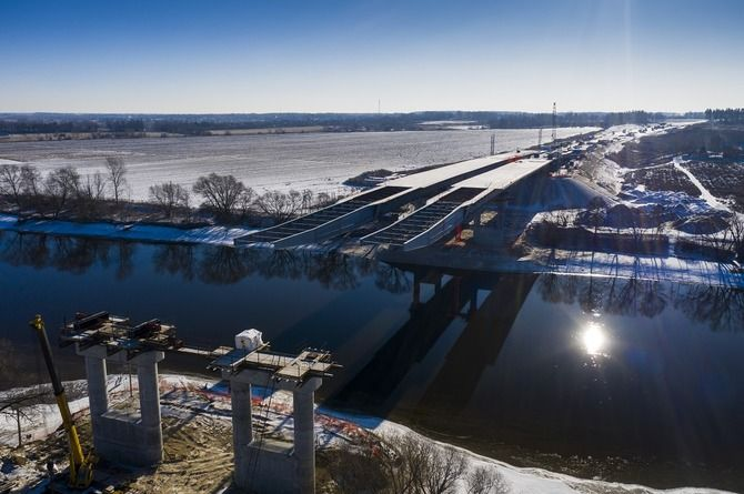 Начинается последний этап надвижки пролётов моста через Москву на ЦКАД-4