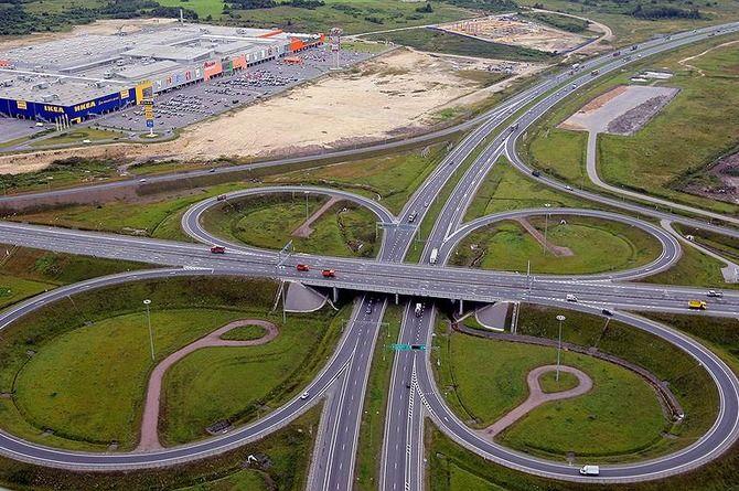 ИКЕА инвестирует 700 миллионов рублей в строительство развязки под Петербургом