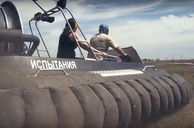 В Астрахани приступили к тестированию судна-амфибии