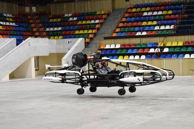 В Москве провели успешное тестирование летающего такси Hover