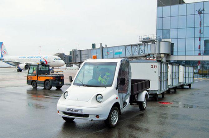 Аэропорт Симферополя стал площадкой для испытаний грузового электромобиля