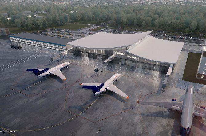 Жители Удмуртии выбрали дизайн фасада ижевского аэропорта
