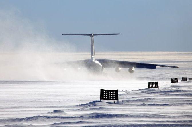 Ледяные арктические ВПП армируют сетками из базальта