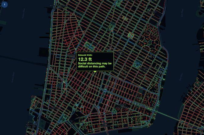 Улицы Нью-Йорка оказались слишком узкими для соблюдения режима социального дистанцирования