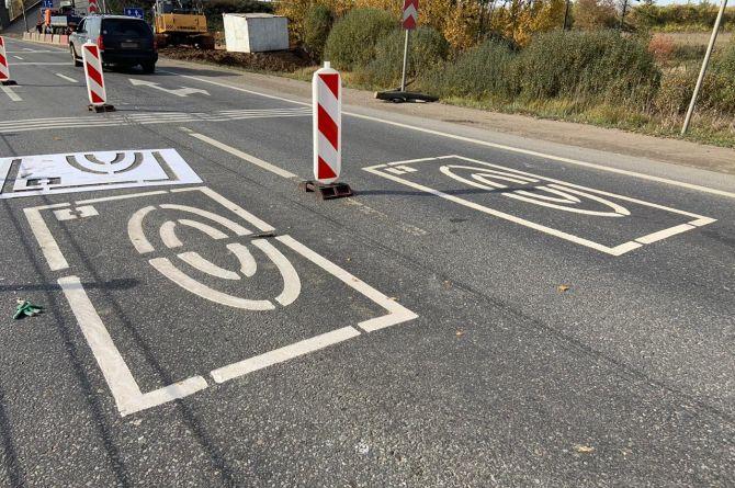 Знаки из высокостойкой разметки появились на трассе М-1