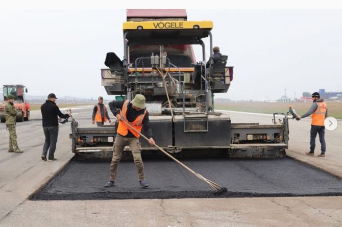 В Чечне начался ремонт ВПП аэропорта Грозного