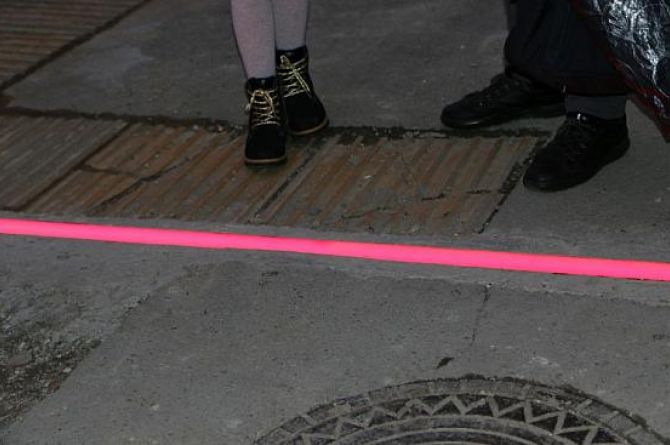 В Новороссийске День студента отметили установкой наземных светофоров