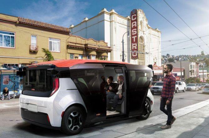 Жители Калифорнии могут бесплатно ездить на беспилотном транспорте