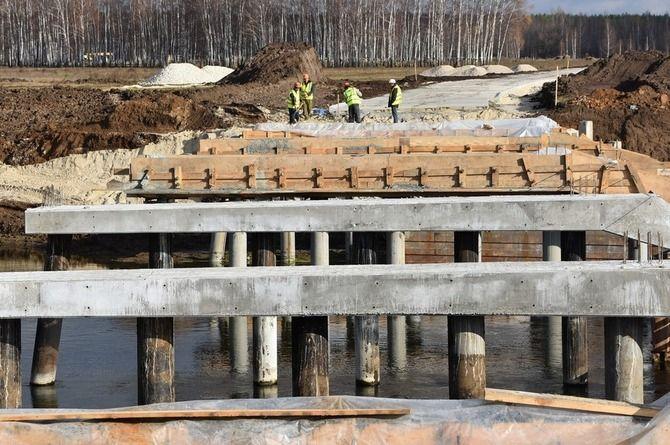 Мост через реку Проня в Рязанской области достроят до конца года