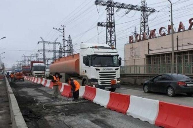 Продолжается ремонт моста на Волжской ГЭС