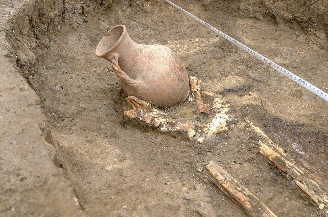 При подготовке к строительству обхода Краснодара обнаружено погребение сарматского воина