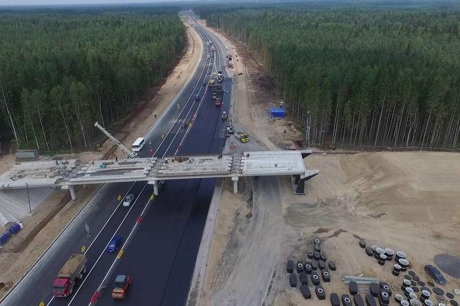 Шестиполосный участок трассы «Скандинавия» в Ленобласти продлят до 80 км